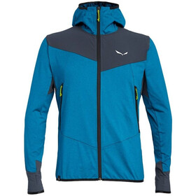 SALEWA Agner Hybrid Polarlite/Durastretch Full-Zip Hoodie Men blue danube melange